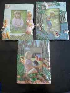 "3 fun frames for 4 x 6"" photos, wrapped, NEW"