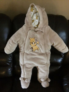 4 infant snowsuits all EUC