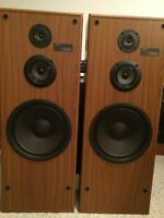Large 3 way Sony Towers feat 12 inch woofer USA