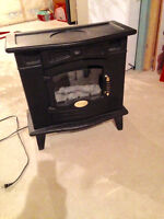 Vintage style electric fireplace heater