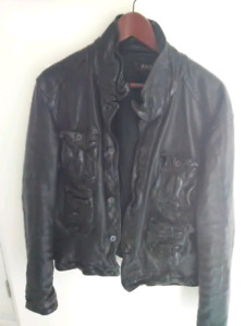 Neil Barrett men's Leather Jacket black used
