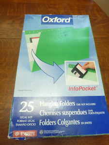 Oxford Legal Size Hanging Folders