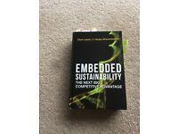 Laszlo and Zhexembayeva Book 'Embedded Sustainability, the next big advantage'