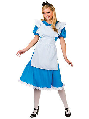 Adult Ladies Traditional Storybook Alice In Wonderland Fancy Dress - Traditional Fairy Tale Costumes