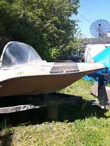 60hp mercury outboard on 11ft Peterborough jewel