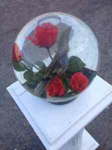 GLASS BALL WITH FLOWERS Belleville Belleville Area image 2