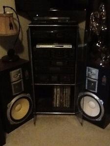 Vintage Sansui Stereo/Stand/Speakers