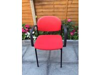 4 red office / home chairs