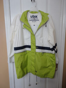 BNWT Utex women's white green fall jacket Size Large