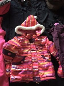 Girls winter coat 24 months /2T with 2 snow pants
