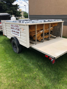 Rub A Dub Rent A Tub is selling old trailer mounted hot tubs