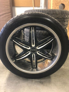 """22"""" rim and two sets of tires"""