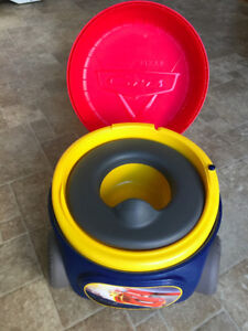 Cars potty with noise function, in excellent condition