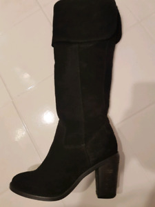 Suede Steve Madden over the knee boots