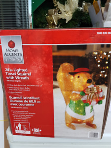 Christmas Lighted Squirrel decoration