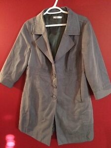 Ricki's Womens Size 12 Grey Long Jacket - Great condition!
