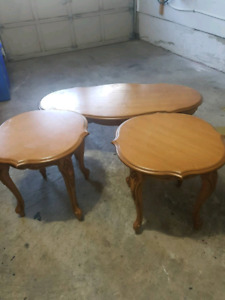 3 pieces set coffee table