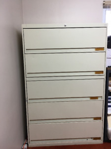 "Business 42""Wide - 5 Drawer Lateral Filing Cabinets - Cream"