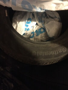 3 Continental 195/65/R15 summer tires for sale used 1.5 season