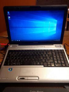 Toshiba L500 i5 quad thread laptop 15.6 widescreen