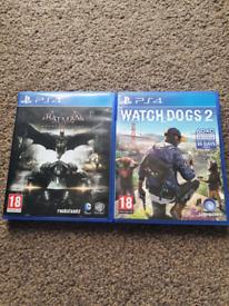 PS4 Games Watch Dogs 2 & Batman Arkham Knight