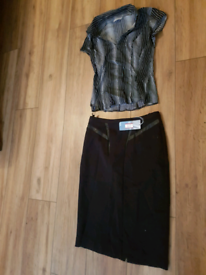 Ladies gorgeous marks and Spencer skirt & blouse
