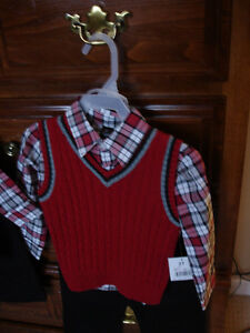 3 piece suite, size 2T new with tags. nice for christmas.