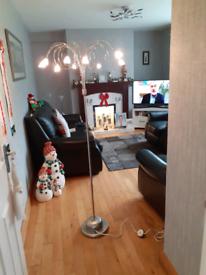 Beautiful Modern chrome standard lamp