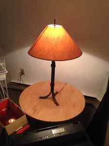 Solid iron lamps! , antique stool