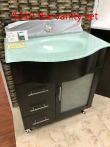 "CLEARANCE 30"" Modern Vanity set demo!!!"