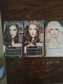 Hair dye- £2 each, collection Seaford