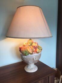 Fruit bowl table lamp