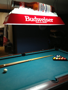 Slate Pool Table and Budweiser light !