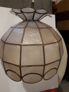 Antique Mother of Pearl Lamp!