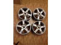 "Lexus is200 17"" alloy wheels refurbished + centre caps is 200 is300 jap fit"