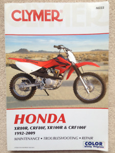 1992-2013 HONDA XR80R CRF80F XR100R CRF100F FULL SHOP MANUAL