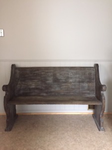 Beautiful church pew for sale