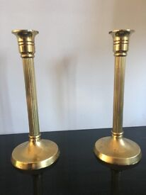 Vintage brass pair of candlesticks