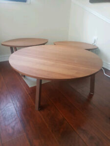 Solid Wood Coffee Tables. Set of 3