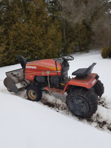 Roper tractor with snowblower for sale