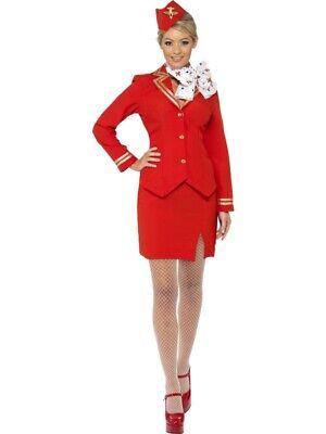 Stewardesskostüm rot Damen Trolley Dolley sexy - Stewardess Sexy Kostüm