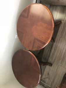 Cocktail Table and 2 Matching end tables - cherry wood