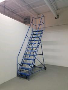 12 Step Rolling Ladder 15ft