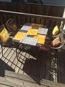 Patio set and accessories-Get it now!