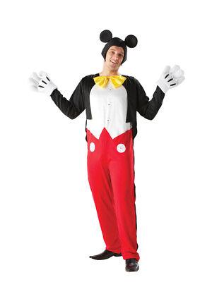 Adult Disney Mickey Mouse Fancy Dress Costume Mens Gents Male - Mickey Fancy Dress Kostüm