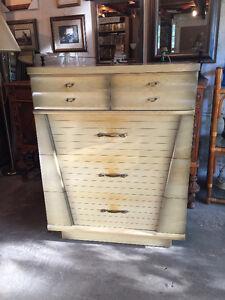 Solid Wood 4 Drawer Tall Boy Dresser.