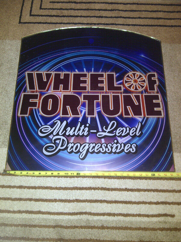 Large Wheel of Fortune Multi-Level Progressives Sign