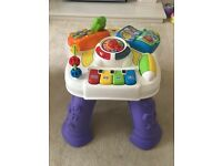 V tech play and learn activity table- excellent condition with original box!
