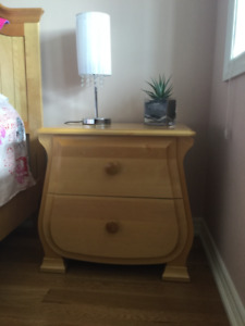 Solid maple bedside table