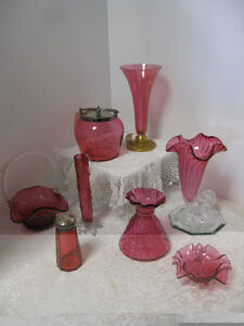 Cranberry Glass - FROM PAST TIMES Antiques & Coll - 1178 Albert